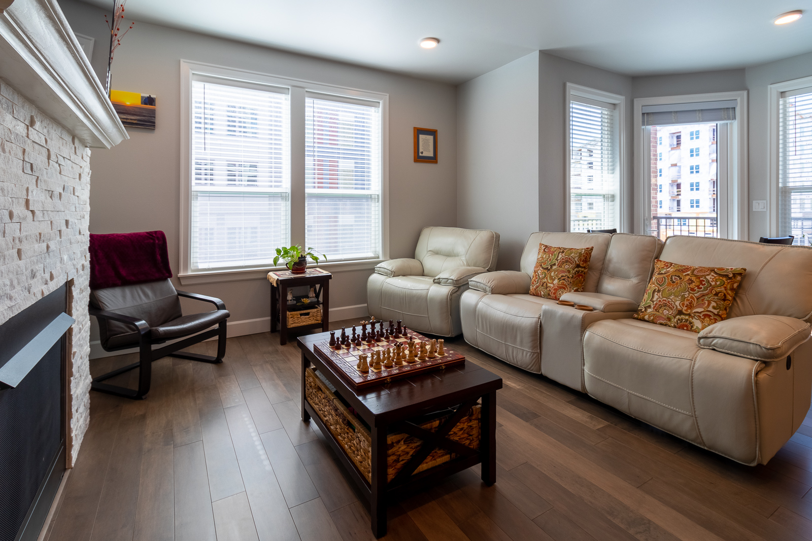 Open Living area layout